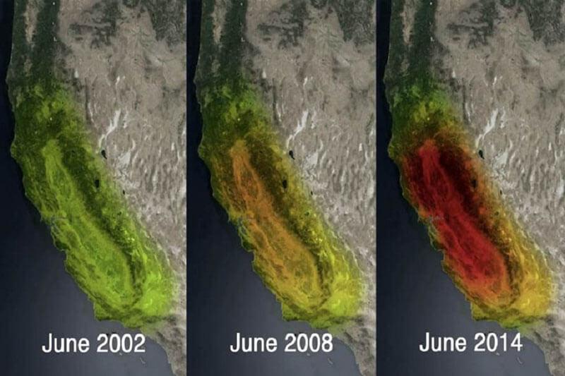 NASA baja de agua en Norte América
