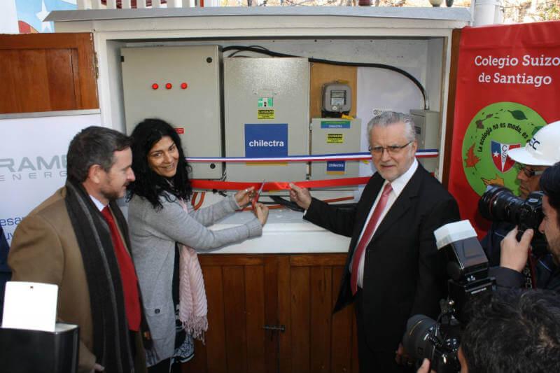 Colegio en Chile con placas fotovoltaicas