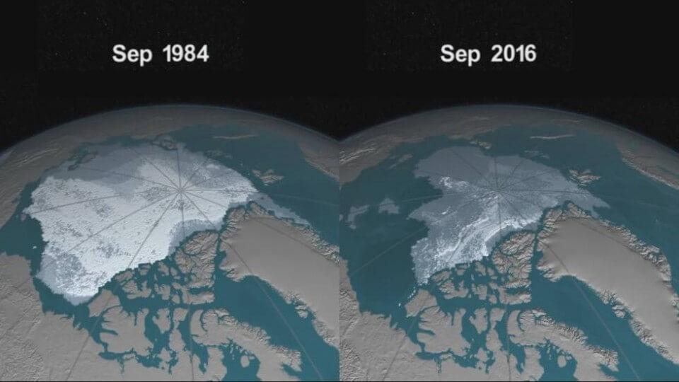 Desvanecimiento de hielo Ártico