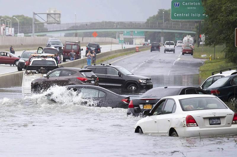 Inundaciones costa estadounidense