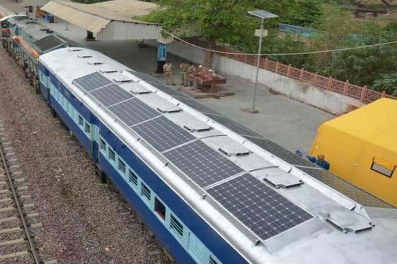 Indian Railways paneles solar