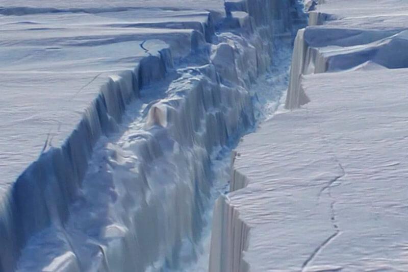 Grieta en Antártida