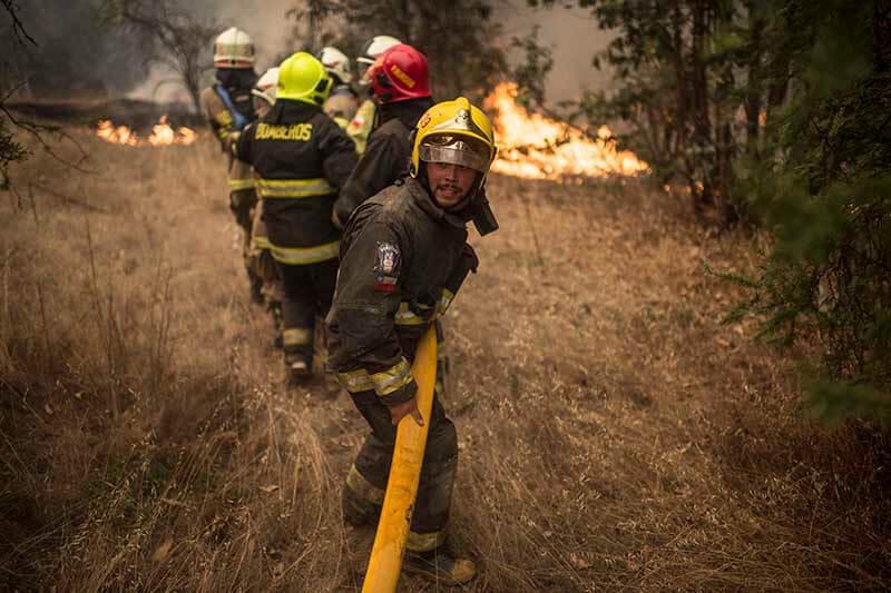 Incendio forestal Chile