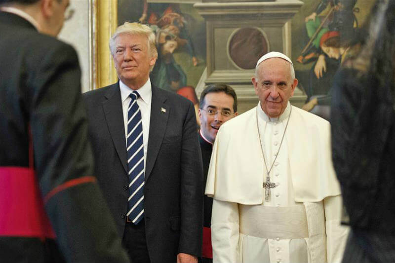 Papa Francisco y Trump