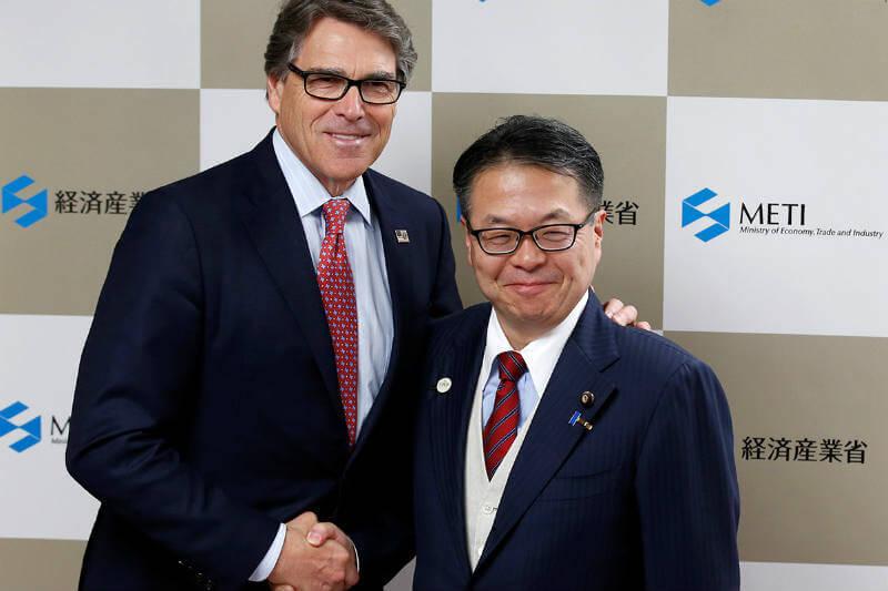 Secretario Rick Perry y ministro Hiroshige Seko