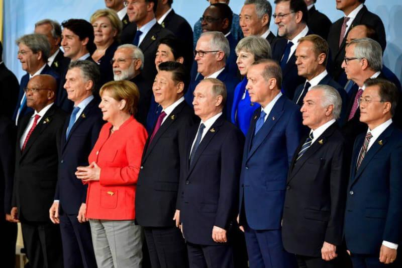 Líderes mundiales se reúnen en la cumbre G20 para tratar temas de comercio, lucha contra el cambio climático, desarrollo, entre otros.