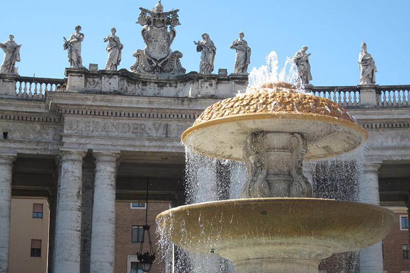 Se ha dado la orden de cerrar las fuentes del Vaticano por el desabastecimiento de agua a causa de las sequías.
