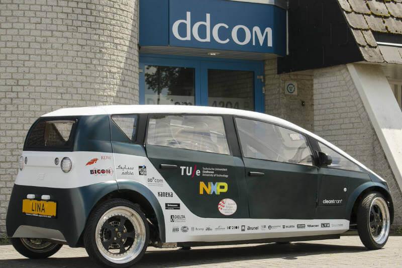 El equipo TU/Ecomotive presenta a Lina, el nuevo auto biodegradable construido con resina derivada de la remolacha.