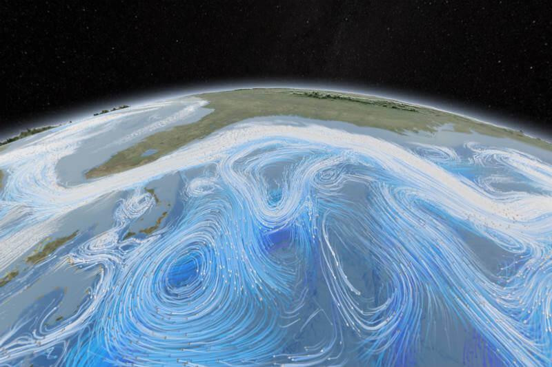 """Estudio sugiere que un """"agujero"""" es evidencia de que un importante sistema de la corriente oceánica está disminuyendo."""