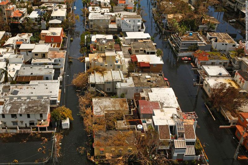 La isla de Puerto Rico retrata la crisis del impacto del clima extrema causado por el cambio climático.