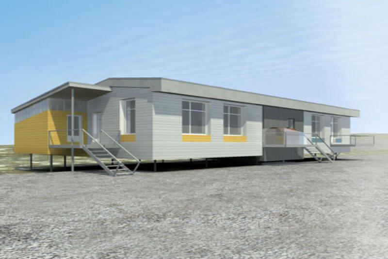 El sistema de vivienda ofrece un ahorro de energía y un diseño aerodinámico que hace que la casa se mantenga cálida.