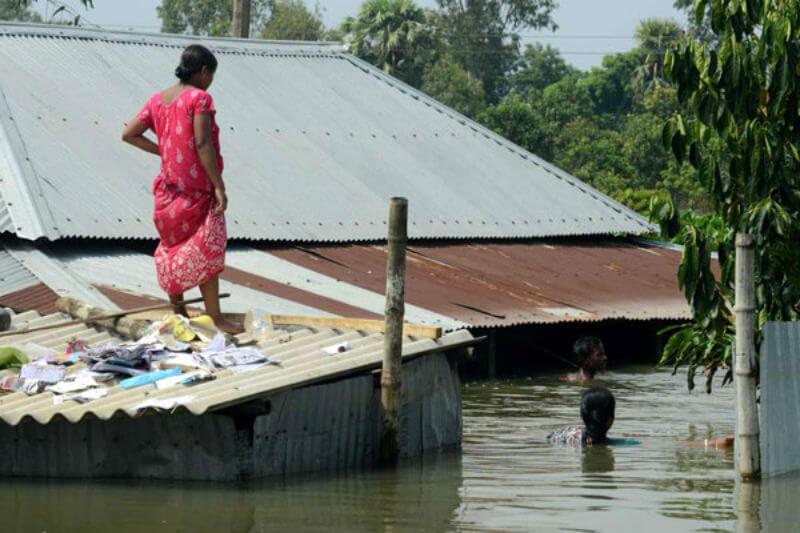 Ocho de los diez países con los niveles más altos de desplazamiento y pérdida de vivienda se encuentran en el sur y sudeste de Asia.