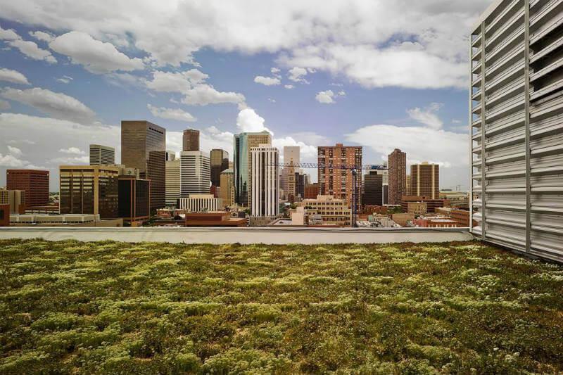 Denver se suma a las ciudades que exigen la instalación de paneles solares o jardines en tejados.