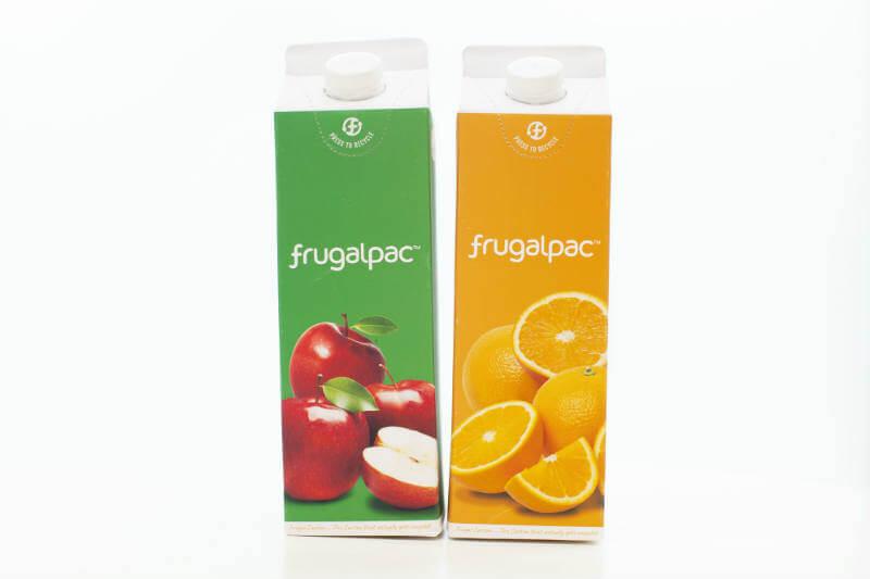 La empresa británica Frugalpac presenta nuevo envase de cartón tradicional, pero con las capas de plástico y aluminio separadas, lo que facilita su reciclaje.