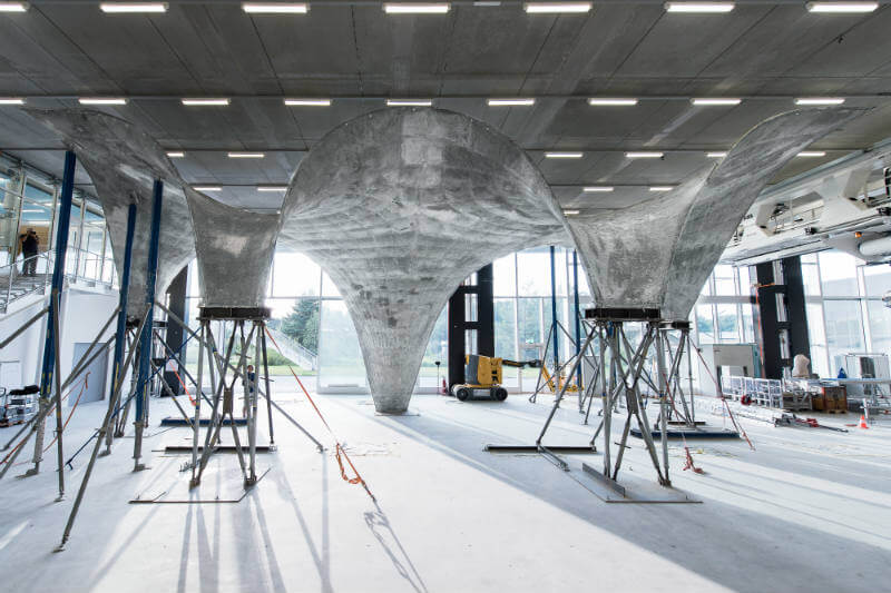 La Escuela Politécnica Federal de Zúrich desarrolla una prototipo de vivienda sostenible que tendrá un techo de concreto que absorbe la energía solar.