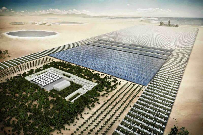 El proyecto Sahara Forest ha puesto en marcha en Jordania, unas instalaciones de alta tecnología para el cultivo en invernadero y en exteriores.