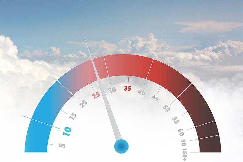 Cómo es el estado del aire que respiramos.