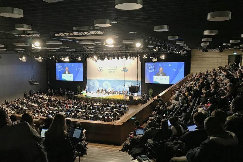 La canciller alemana, el secretario general de la ONU y Emmanuel Macron instan a los líderes mundiales a tener éxito en sus negociaciones en la COP23.