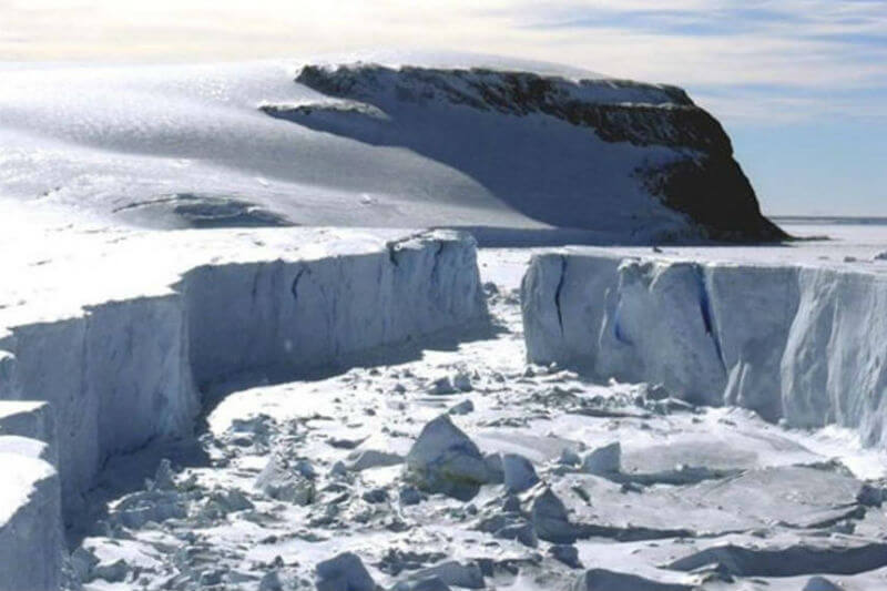 El glaciar Totten contiene suficiente hielo para elevar el nivel del mar en más de 3 metros.