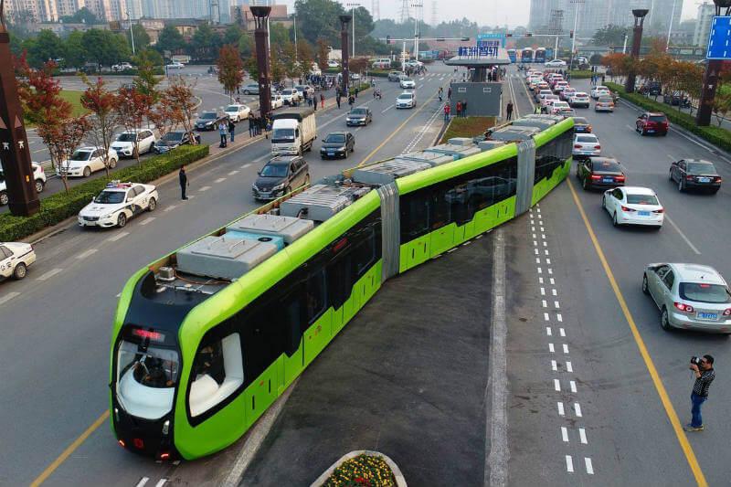 Gracias a la compañía CRRC Corporation, un nuevo tren 100% eléctrico y con capacidad para transportar a 300 pasajeros circula en la provincia de Hunan.