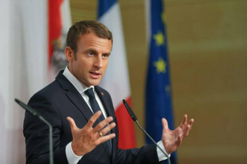 El presidente francés Emmanuel Macron y el Reino Unido se comprometieron a cubrir cualquier déficit de fondos para el organismo climático global, IPCC.