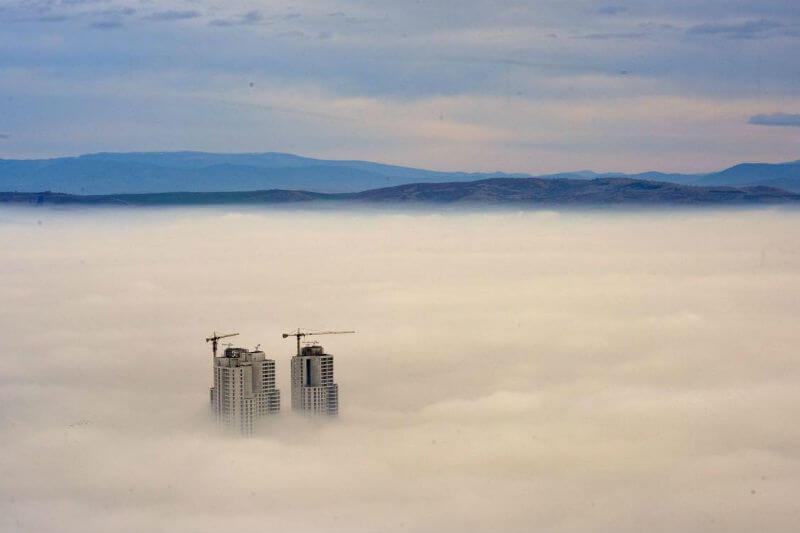 Según el Instituto de la Salud de Skopje, la contaminación del aire es la sexta causa de muertes.