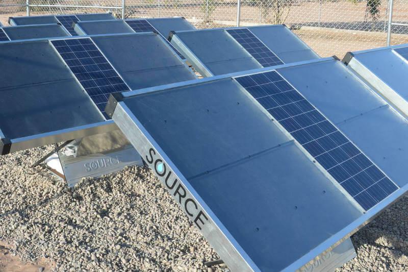 El dispositivo autónomo y alimentado con energía solar, SOURCE, puede recolectar hasta 10 litros de agua potable por día del aire.
