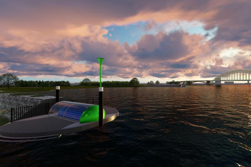 """""""EQA River es una alternativa fiable, segura para los peces y económica para producir energía limpia del agua"""", asegura la empresa holandesa EQA Projects."""