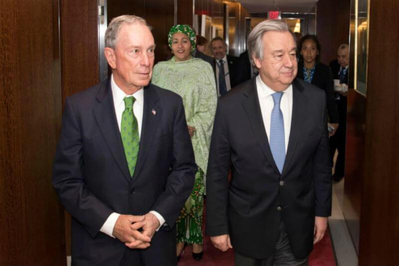 Bloomberg apoyará una Cumbre Climática de la ONU en 2019 para movilizar una acción más ambiciosa y comenzar a implementar el histórico Acuerdo de París.