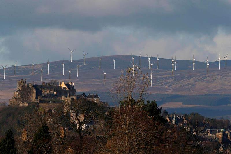 La nación supera al resto del Reino Unido con un 68.1% de las necesidades energéticas satisfechas sin combustibles fósiles.
