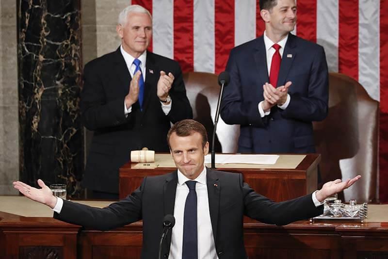 Emmanuel Macron Discurso a Congreso Estados Unidos