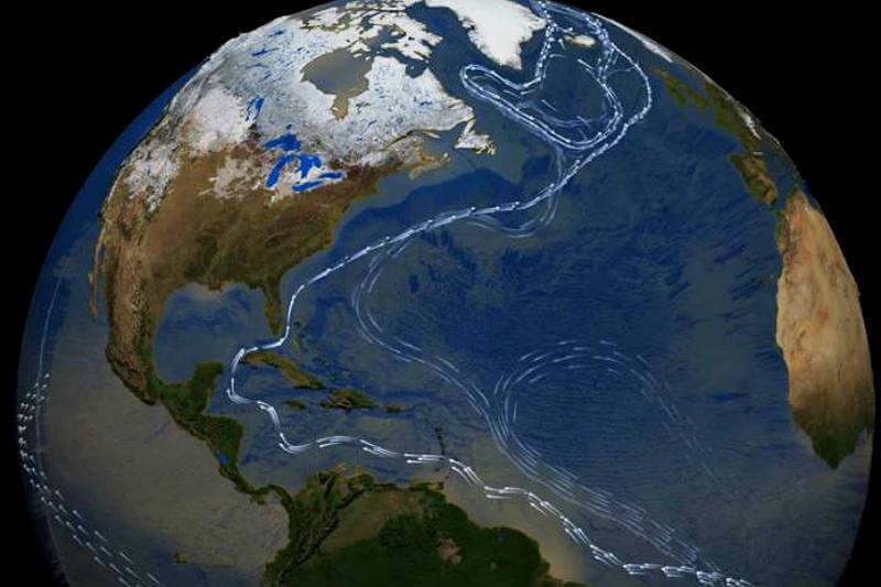 Se ha descubierto que la circulación del Atlántico se ha desacelerado en un 15% desde el siglo pasado, lo que podría tener graves consecuencias para todos.