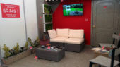 exposición de muebles Gris Ratón