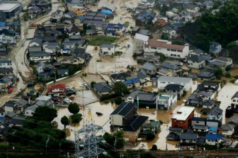 Las prefecturas más afectadas son las de Ehime, Okayama y Hiroshima, donde en 11 días se cuadruplicó el volumen total de lluvia de todo julio.