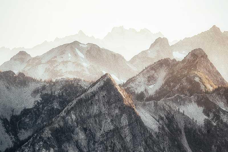 Deshielo cima de los Alpes