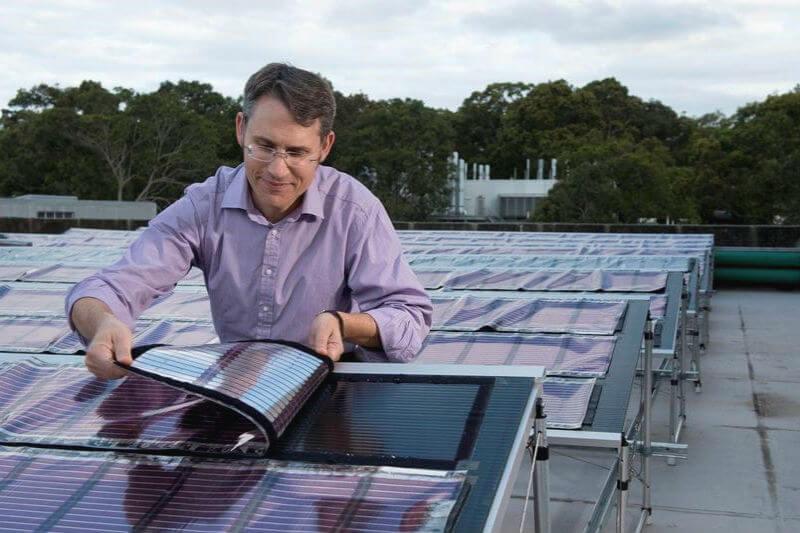 Para producir células solares orgánicas en Newcastle (Australia), todo lo que se necesita es una impresora como las que se usan para imprimir etiquetas de vino.