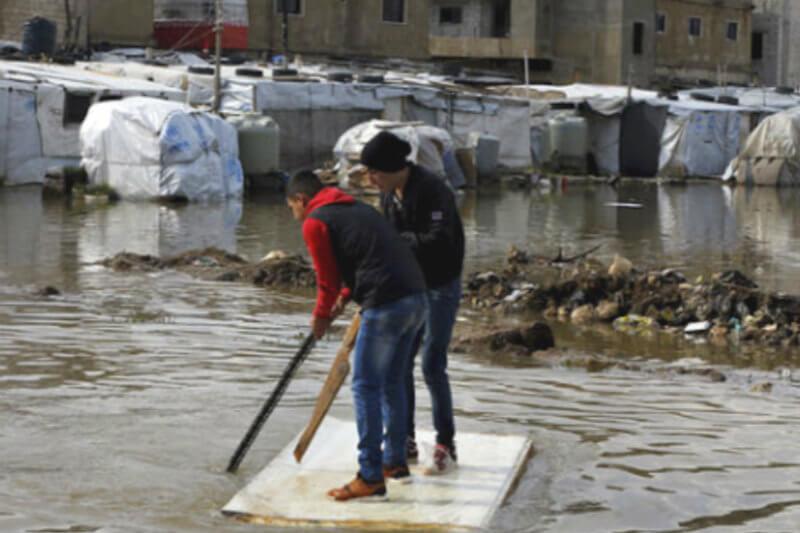 El temporal ha afectado a 150 campamentos informales de refugiados, de los cuales 15 han quedado destruidos y se han desplazado al menos 8,000 personas.