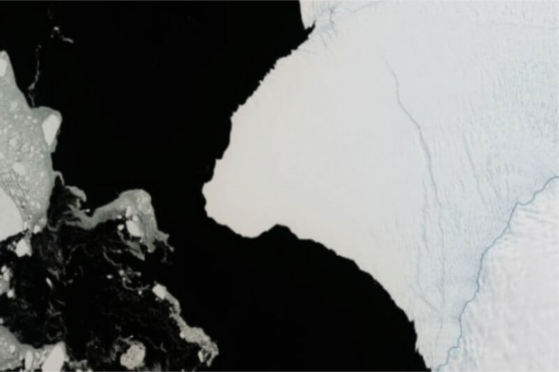 NASA asegura que el bloque de hielo se desprenderá por una grieta que apareció en octubre de 2016 y que no ha dejado de hacerse más larga y profunda.