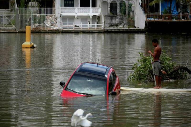 De acuerdo con las autoridades brasileñas, en cuatro horas cayó la lluvia esperada para todo el mes de febrero.