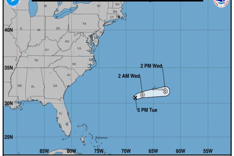 Se manifiesta la primera tormenta tropical en el Atlántico.