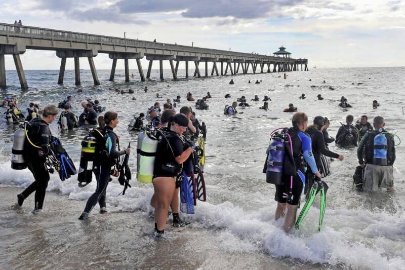 El nuevo récord es para Florida tras la limpieza realizada este sábado por Dixie Divers con el apoyo del grupo de conservación marina Project AWARE.
