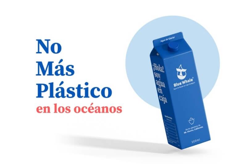Blue Whale es una iniciativa ecológica que busca ofrecer una alternativa simple al agua embotellada de alta calidad: agua en caja de cartón.
