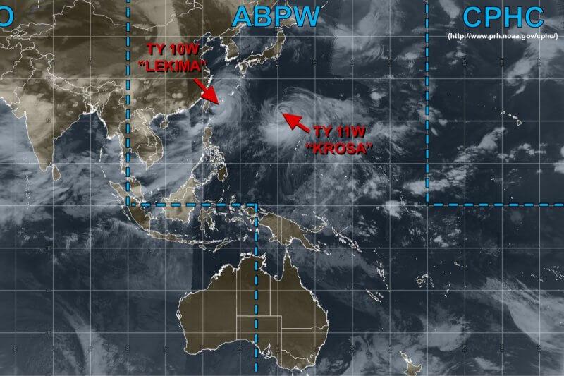 Las tormentas se encuentran actualmente en el Pacífico Noroeste y el Océano Índico Norte.