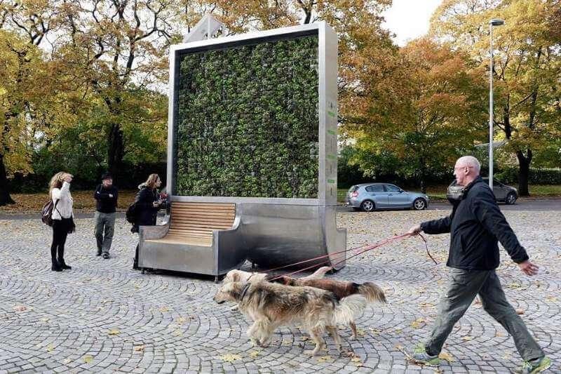 """Peter Sänger y Liang Wu son los creadores deGreen City Solutions: """"La solución para mejorar de manera cuantificable el aire de la ciudad""""."""
