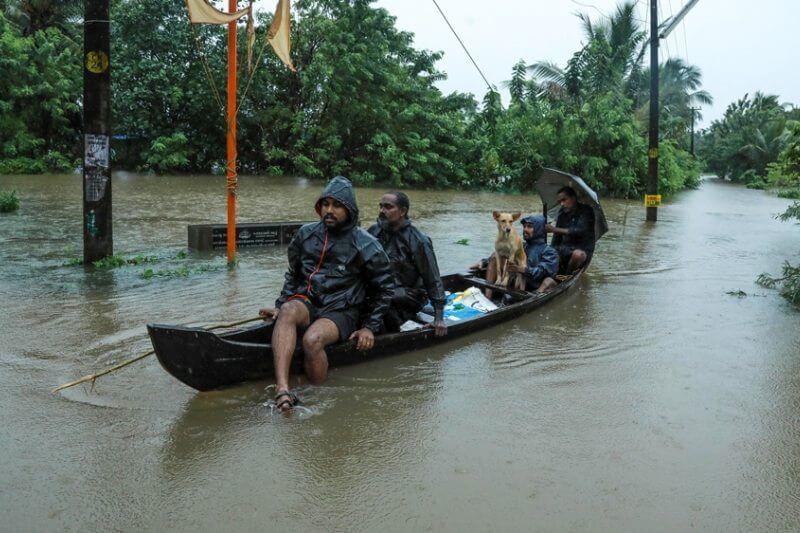 Los estados de Kerala y Karnataka en el sur y Maharashtra y Gujarat en el oeste son los más afectados por las lluvias monzónicas.