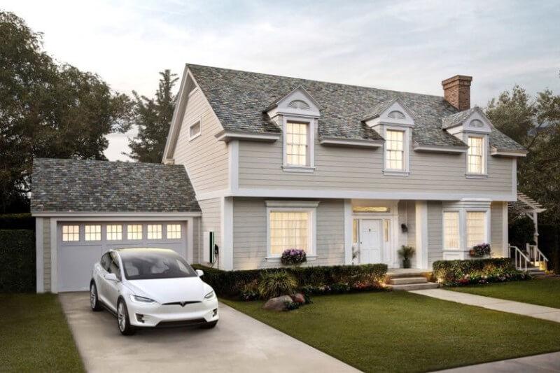 Las tejas están hechas de vidrio en capas sobre un sustrato fotovoltaico y sirven como reemplazo de los materiales de techado tradicionales.