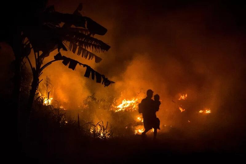Incendios forestales en Indonesia causan enfermedades en residentes