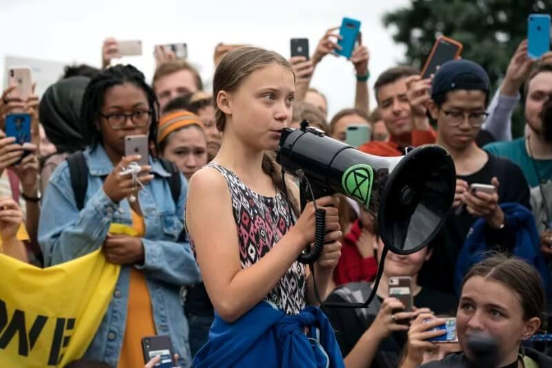 La protesta de este viernes culmina con una manifestación en Nueva York encabezada por la activista Greta Thunberg.