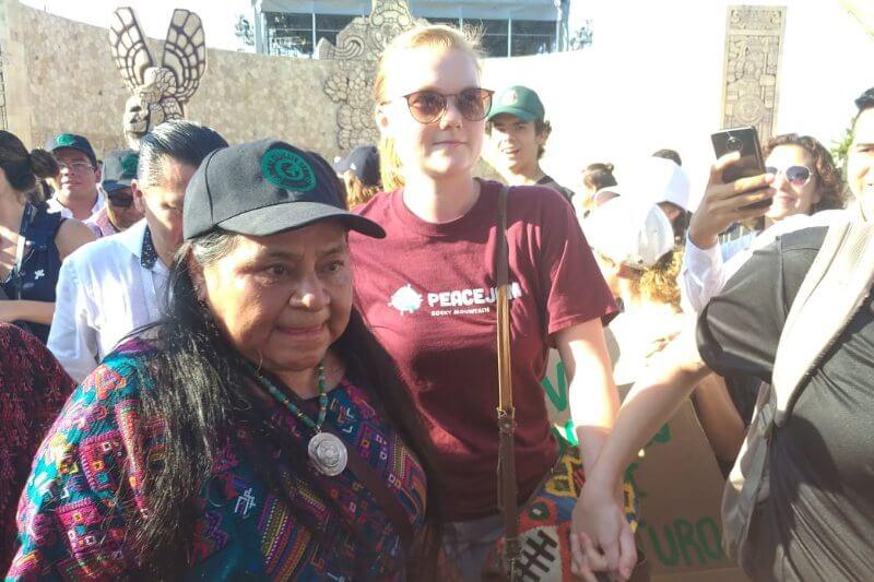 Líderes de todo el mundo se unen a la protesta masiva en contra de la crisis climática.