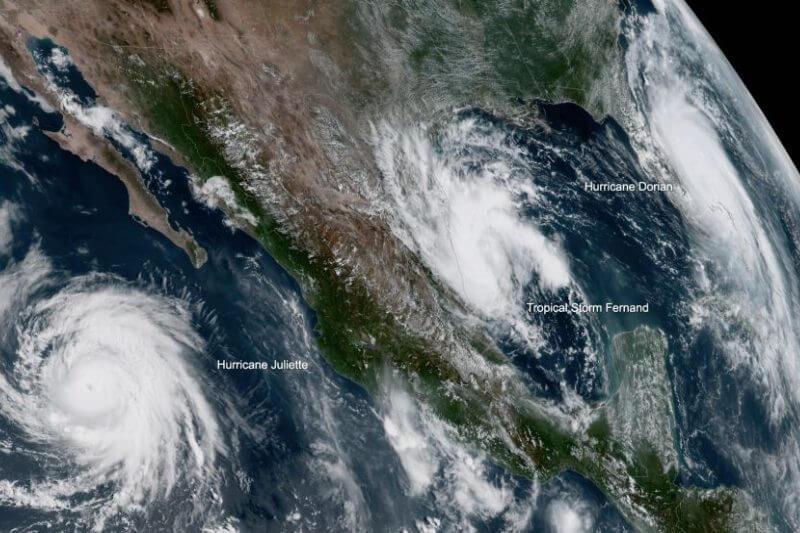 Una segunda tormenta tropical más pequeña puede tocar tierra en Norteamérica esta semana, luego de la devastación del huracán Dorian en el noroeste de Bahamas.